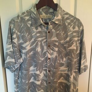 Island Republic tropical short sleeved shirt.